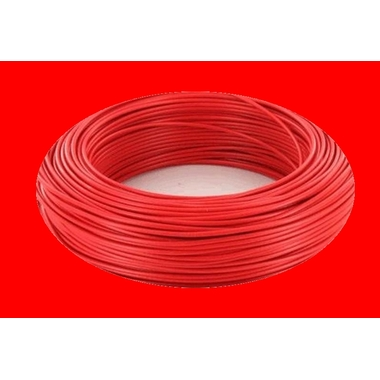 Fil electrique rouge de cablage h07vk 4mm2 tension 750 v maison lectricit magic affaires 22 - Cable electrique 4mm2 ...
