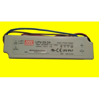 DRIVER LED MEAN WELL LPV-35-24 24 V DC 1,5 A BLOC D'ALIMENTATION À ENCASTRER (1)