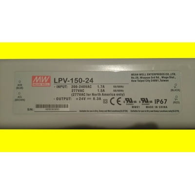 Driver LED Mean Well LPV-150-24 151 W 24 V 6,3 A tension constante (2)