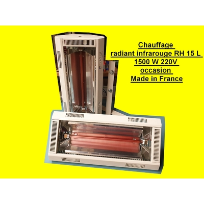 Chauffage radiant infrarouge RH 15 L 1500 W 220V occasion Made in France