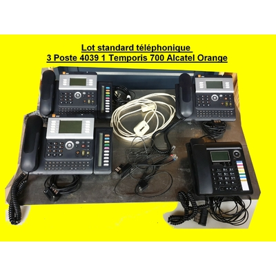 Lot standard téléphonique 3 Poste 4039 1 Temporis 700 Alcatel Orange