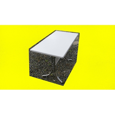 1 table pieds chromé 110X60 cm occasion restaurant bar pizza bistro