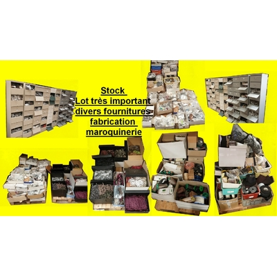 Stock Lot très important divers fournitures fabrication maroquinerie