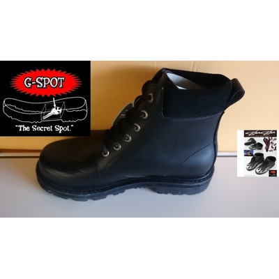 44 Sha-Sha billy lane 6 eye Boot Black black Fine Shoes..