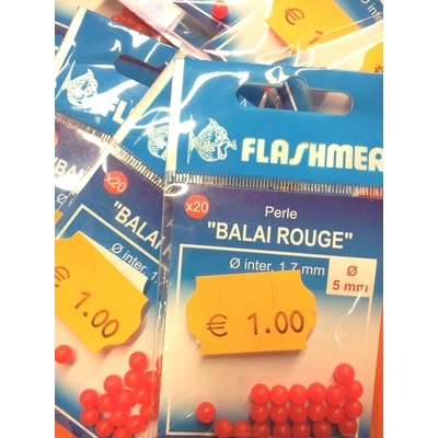 Flashmer perle balai rouge 5mm