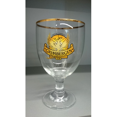 LOT de 13 Verre à bière Grimbergen 50 cl col doré Bar-Collector