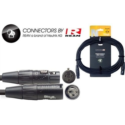 Stagg NDX15R-3 12-Inch DMX Cable .