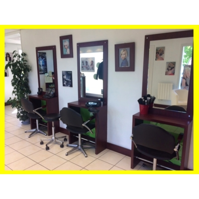 Agencement Mobilier Coiffure coiffeuse + fauteuil