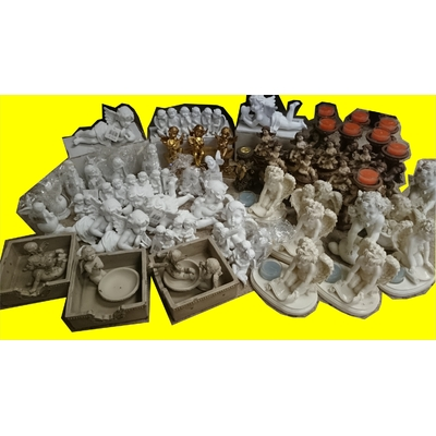 lot revendeur 63 statues bougeoirs anges magic affaires (3)