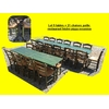 Lot 5 tables + 21 chaises paille restaurant bistro pizza occasion (5)