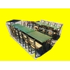 Lot 5 tables + 21 chaises paille restaurant bistro pizza occasion (4)