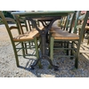 Lot 5 tables + 21 chaises paille restaurant bistro pizza occasion (3)