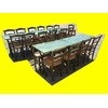 Lot 5 tables + 21 chaises paille restaurant bistro pizza occasion (2)