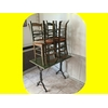 Lot 5 tables + 21 chaises paille restaurant bistro pizza occasion . (3)