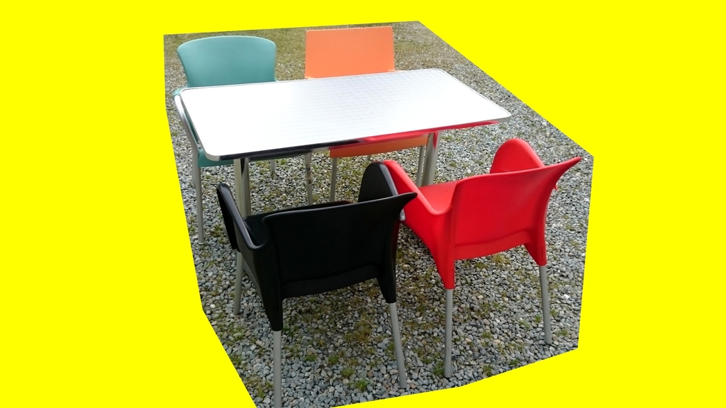 Lot 1 Table Bistrot Aluminium Rectangle Ext Rieur Int Rieur 3 Chaises Multicouleurs Lock Art