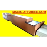 agencement double comptoir accueil 6,60 m occasion MAGIC AFFAIRES DISCOUNT DESTOCKAGE ( CODE JL )