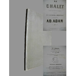 Partition chant et piano ADAM Adolphe Le chalet