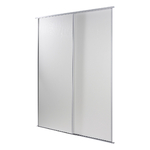 Facade placard coulissante blanc 2500x1200 mm