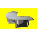 bureau gris angle + caisson professionnel agencement magic affaires