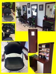Agencement Mobilier Coiffure bac coiffeuse fauteuil occasion