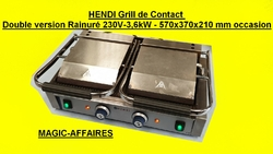HENDI Grill de Contact Double version Rainuré 230V-3,6kW - 570x370x210 mm occasion (5)
