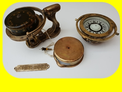 TRADEMARK Sestrel Moore compass - BARKING & LONDON - HENRY Browne & Sons Ltd - N°32770 Pat N° 752093 en bronze et laiton XIXème siècle (5)