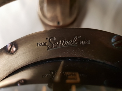 TRADEMARK Sestrel Moore compass - BARKING & LONDON - HENRY Browne & Sons Ltd - N°32770 Pat N° 752093 en bronze et laiton XIXème siècle (7)