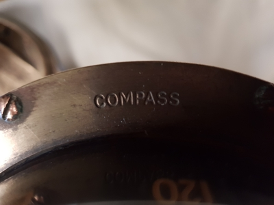 TRADEMARK Sestrel Moore compass - BARKING & LONDON - HENRY Browne & Sons Ltd - N°32770 Pat N° 752093 en bronze et laiton XIXème siècle (8)