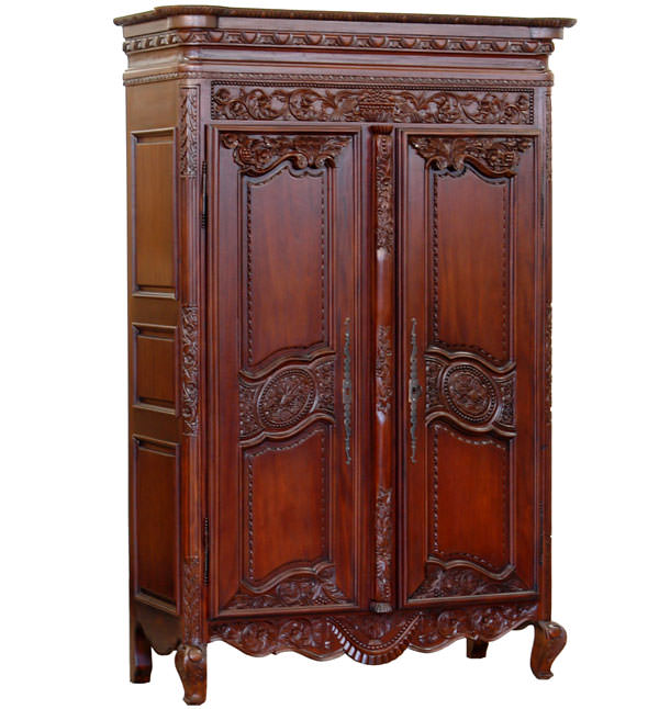 armoire normande style louis xv en bois massif meubles. Black Bedroom Furniture Sets. Home Design Ideas