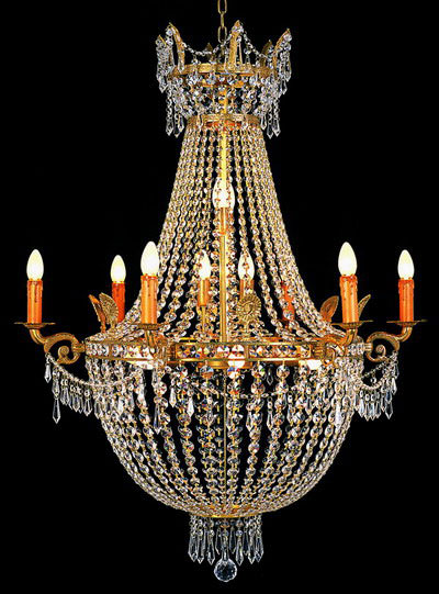 lustre montgolfi re en cristal style empire 16 feux villandry luminaires lustres en cristal. Black Bedroom Furniture Sets. Home Design Ideas