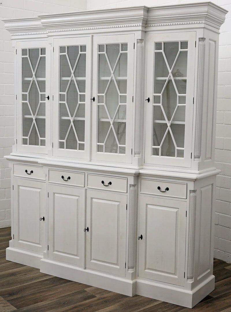 biblioth que style anglais victorien en acajou blanc preston. Black Bedroom Furniture Sets. Home Design Ideas