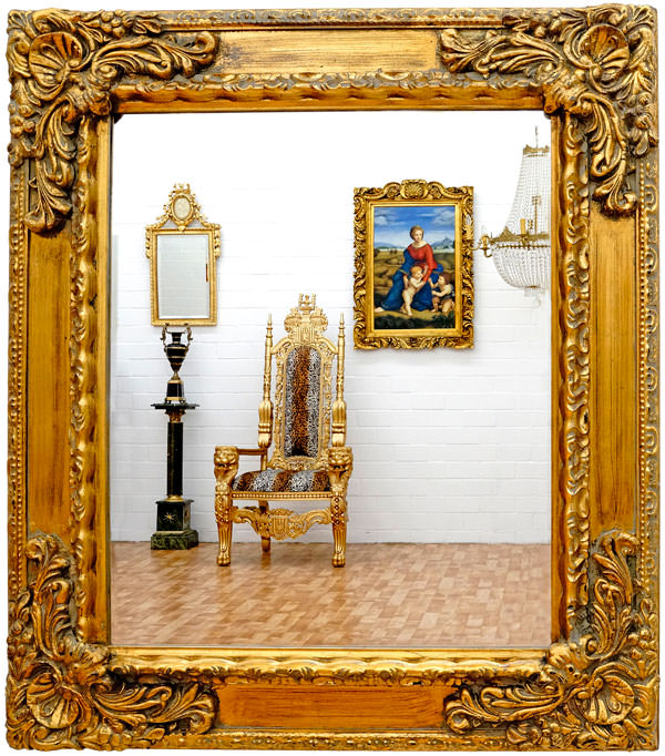 miroir baroque cadre en bois dor 82x72 cm miroirs baroque classic stores. Black Bedroom Furniture Sets. Home Design Ideas
