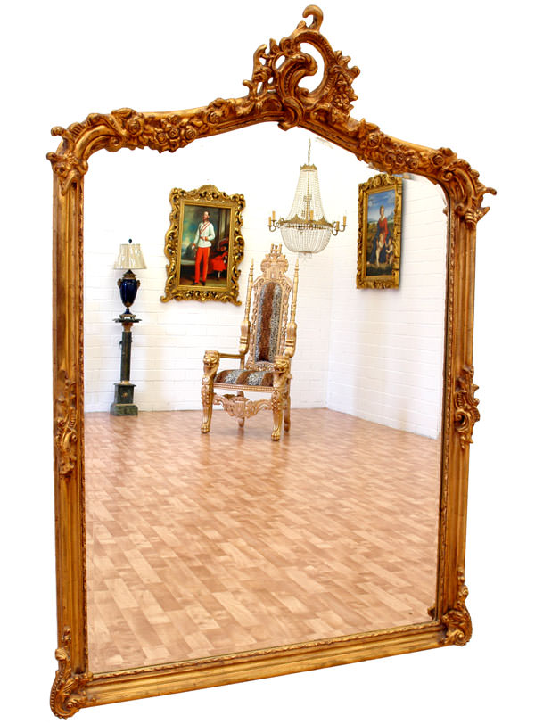 miroir baroque cadre en bois dor 146x102 cm miroirs. Black Bedroom Furniture Sets. Home Design Ideas