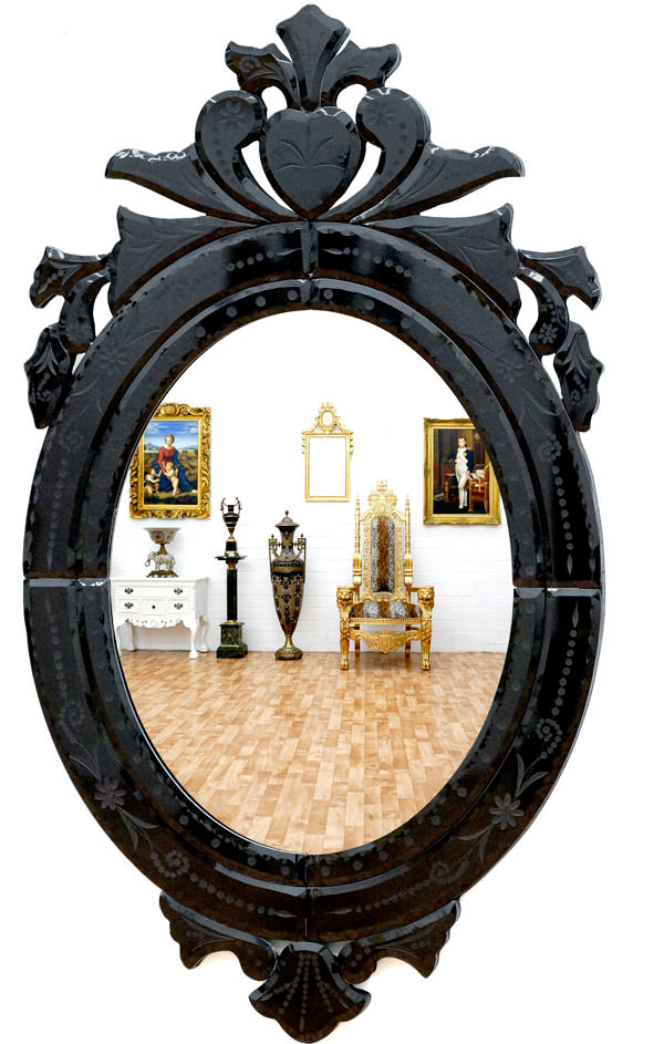 miroir baroque v nitien cadre noir miroirs baroque. Black Bedroom Furniture Sets. Home Design Ideas