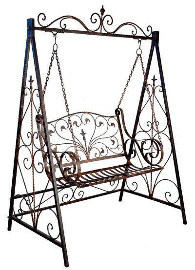 Balancelle style anglais victorien en fer forg brun mobilier et d coration - Fer forge en anglais ...
