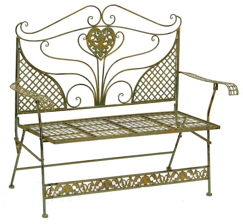 Banc de jardin style anglais victorien en fer forg vert mobilier et d cora - Fer forge en anglais ...