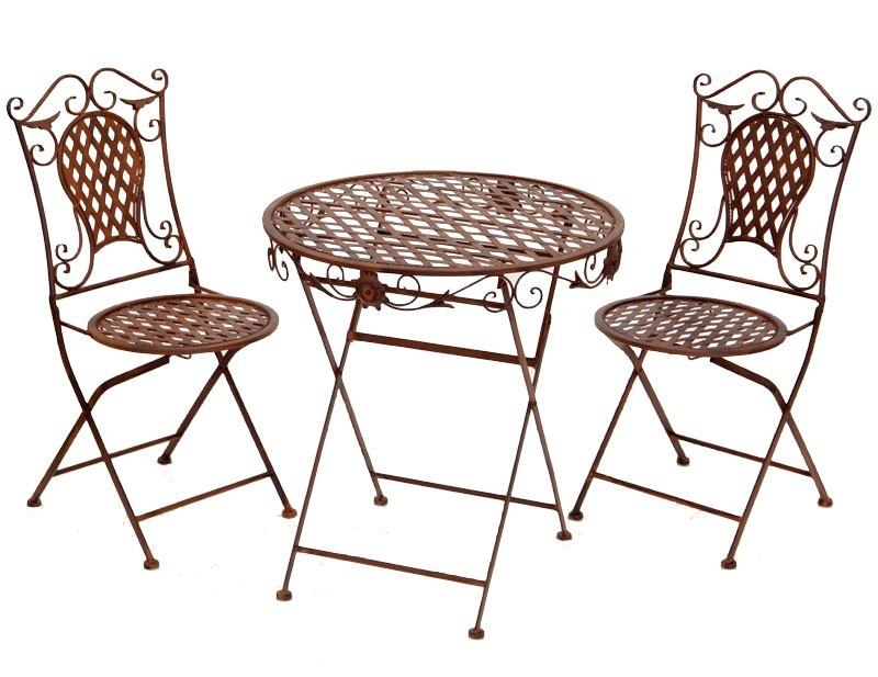 Mobilier Et Décoration De Jardin - Tables Et Chaises En Fer Forgé