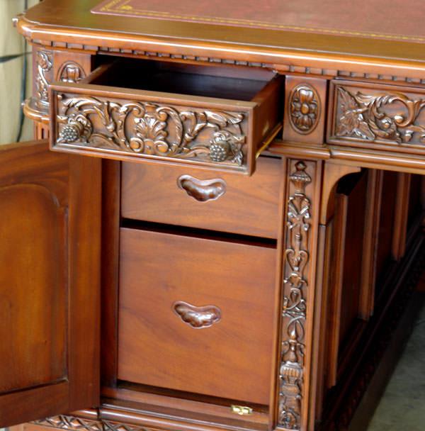 R plique du bureau resolute desk sous main rouge du pr sident des usa meubles de style bureaux - Bureau president americain ...