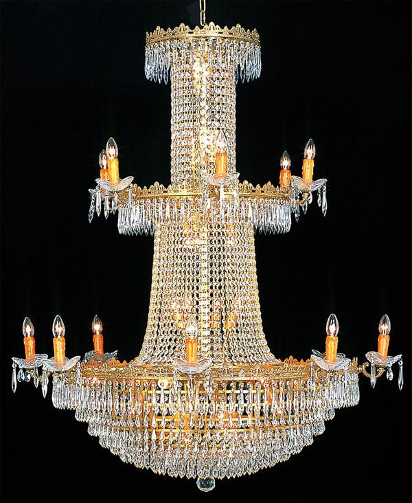 lustre montgolfi re en cristal style empire 38 feux langeais luminaires lustres en cristal. Black Bedroom Furniture Sets. Home Design Ideas