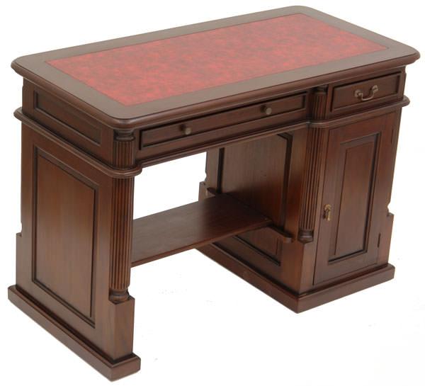 bureau informatique style anglais en acajou alford. Black Bedroom Furniture Sets. Home Design Ideas