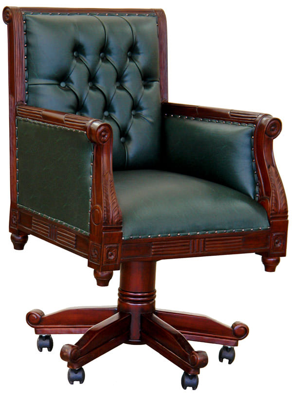 fauteuil de bureau anglais chesterfield vert meubles de. Black Bedroom Furniture Sets. Home Design Ideas