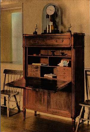 Le bureau du pr sident am ricain james monroe mobilier de style classic stores - Bureau president americain ...