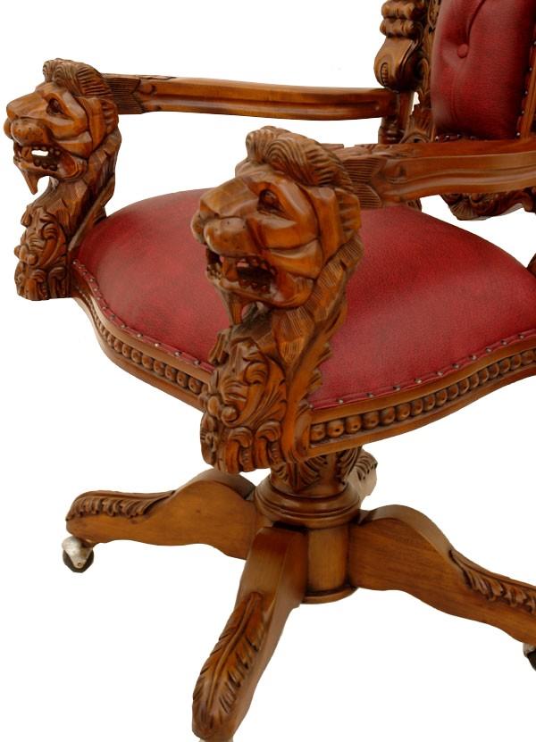 fauteuil de bureau chesterfield rouge bordeaux castle meubles de style fauteuils de style et. Black Bedroom Furniture Sets. Home Design Ideas