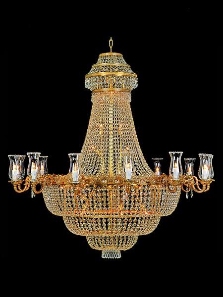 Lustre montgolfi re d 39 h tel en cristal 35 feux malmaison luminaires lustres en cristal - Produit nettoyage lustre cristal ...