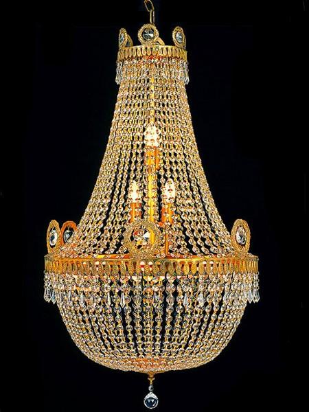 Lustre montgolfi re en cristal style empire ecouen luminaires lustres en cristal classic stores - Produit nettoyage lustre cristal ...