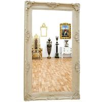 Miroir baroque en bois blanc 234x134m Aucors