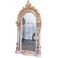 Miroir royal 248x136cm en bois blanc et doré Olivet