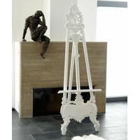 Chevalet baroque 170 cm en acajou massif blanc