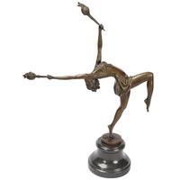 Statue en bronze style Art Déco danseuse 44 cm