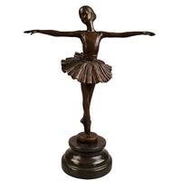 Statue en bronze style Art Déco danseuse de ballet 29 cm